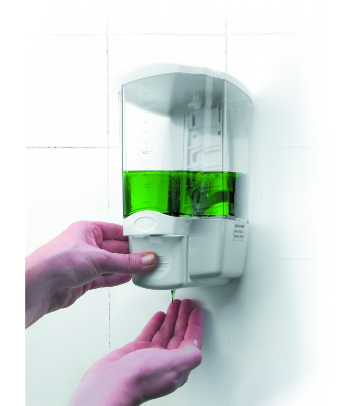 dispensador jab n de pared acr lico de lacor