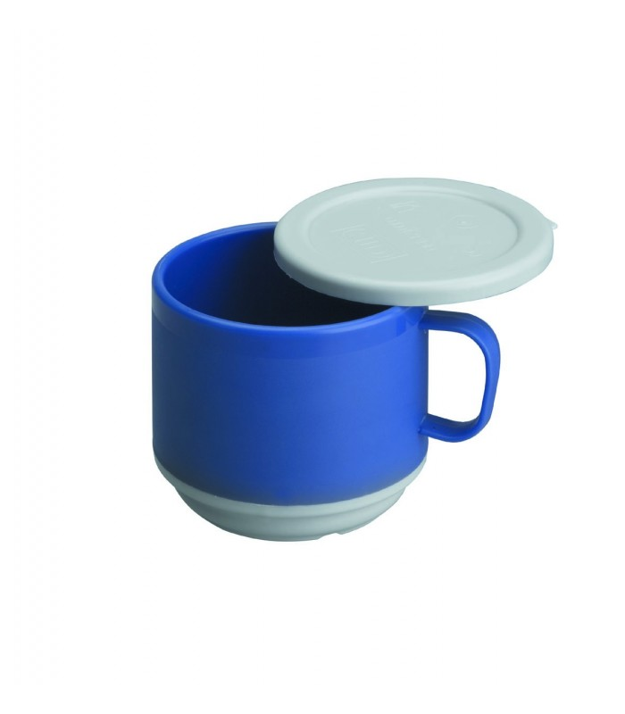 Taza doble pared policarbonato con tapa de lacor for Taza con tapa