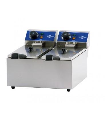 Freidora eléctrica de sobremesa FRY-8+8