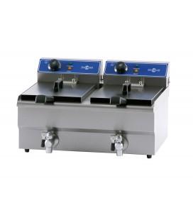 Freidora eléctrica de sobremesa FRY-13+13 de Irimar