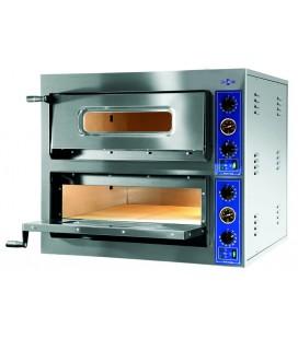 Horno de pizza eléctrico P-4+4/360