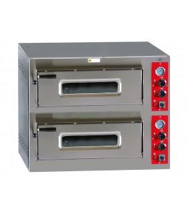 Horno de pizza eléctrico HP-6+6/330