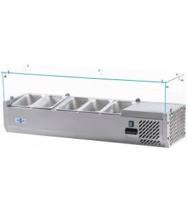 Vitrina refrigeradora pizza y ensalada VIPP-5xGN1/4 de Irimar