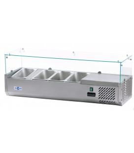 Vitrina refrigeradora pizza y ensalada VIPP-4xGN1/3 de Irimar