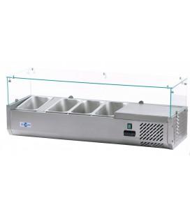 Vitrina refrigeradora pizza y ensalada VIPP-8xGN1/3 de Irimar