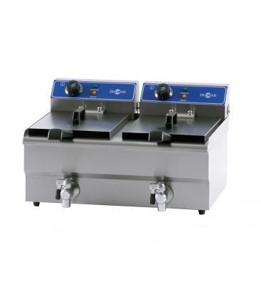 Freidora eléctrica de sobremesa FRY-13+13
