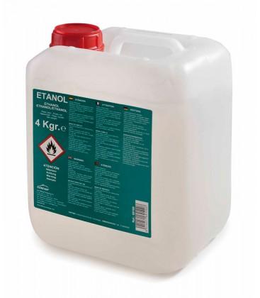 L'éthanol-carburant gel seau 4 Kg de Lacor