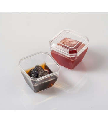 Vaso cubilete con tapa 50 ml de Effimer (800 uds.)