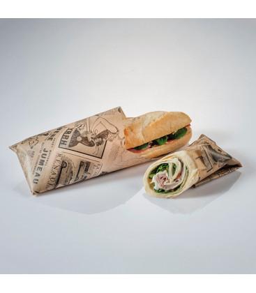 Mantel de papel antigrasa vintage Newsfood de Effimer (2000 uds.)