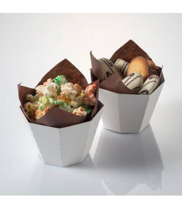 Cesta de cartón french fries + papel antigrasa de Effimer (500 uds.)