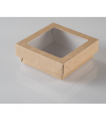 Caja kraft con tapa Windows Box 950 ml de Effimer (250 uds.)