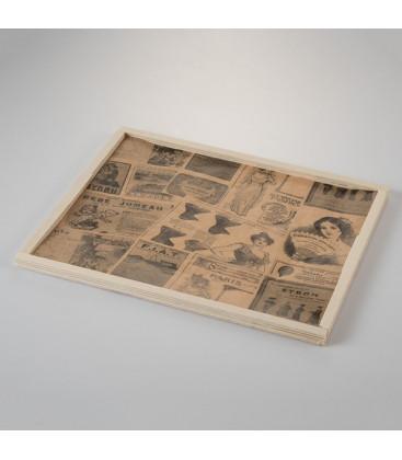 Mantel de papel antigrasa vintage mediano Newsfood de Effimer (2000 uds.)