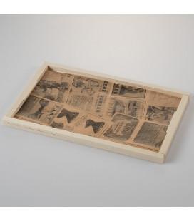 Mantel de papel antigrasa vintage pequeño Newsfood de Effimer (5000 uds.)