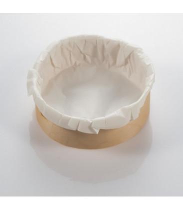 Aro de madera 14 cm y papel de hornear de Effimer (125 uds.)
