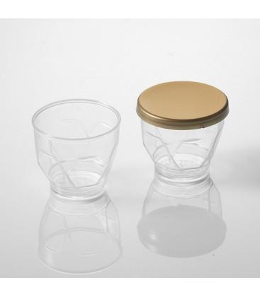 Vaso cubilete con tapa 25 ml de Effimer (1000 uds.)