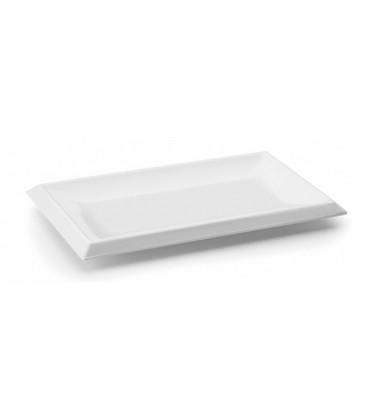 Mélamine blanc plateau rectangulaire Lacor Classic series
