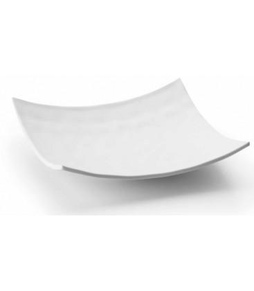 Fuente cuadrada melamina serie White de Lacor