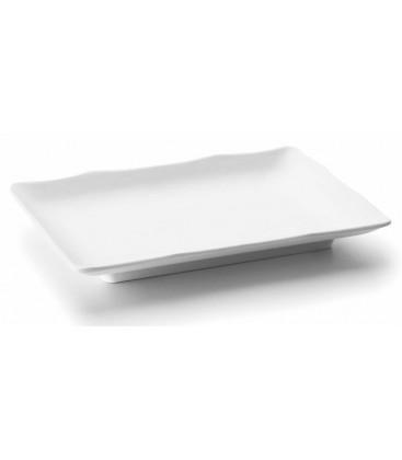 Série de mélamine alimentation rectangulaire blanc de Lacor