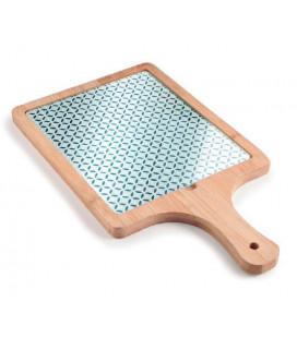 Tabla de cristal y bambú de Lacor