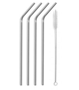 Pack de 4 pajitas de acero de Lacor