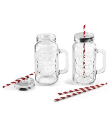 Set de 2 jarras de cristal de Lacor