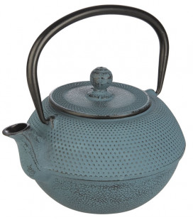 Cast iron teapot blue by Ibili