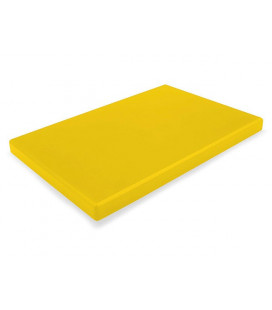 Yellow cutting board polyethylene HD 600x400 by Lacor