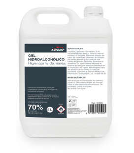 Hydroalcoholic hand gel 5 L by Lacor