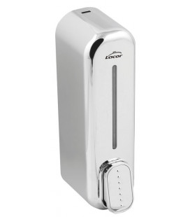 Chrome hand dispenser for gel and soap by Lacor