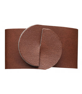 Set 4 recycled leather napkin rings by Lacor