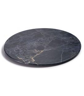 Plato redondo de melamina serie Stone de Lacor