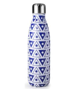 Botella termo inoxidable Mosaic Blue de Ibili