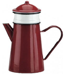 Enamelled filter red coffee pot by Ibili (4 u)