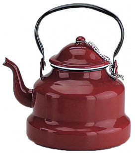 Enamelled red kettle by Ibili (6 u)