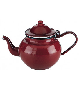 Red enamelled teapot by Ibili (6 u)
