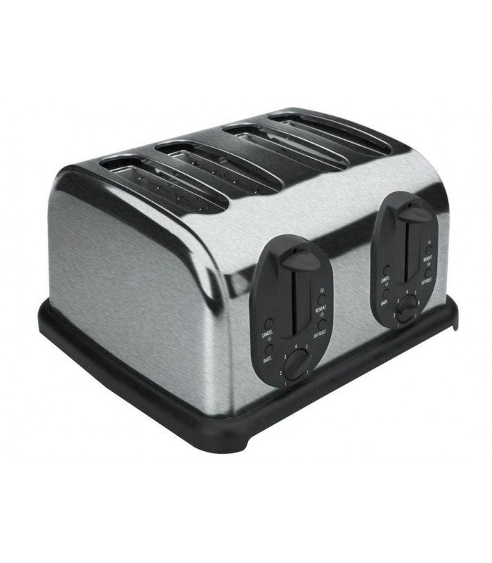 automatique en acier inoxydable 4 fentes grille pain lacor. Black Bedroom Furniture Sets. Home Design Ideas