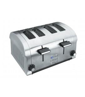 Le grille-pain électrique de Luxe 1400W 4 emplacements de Lacor