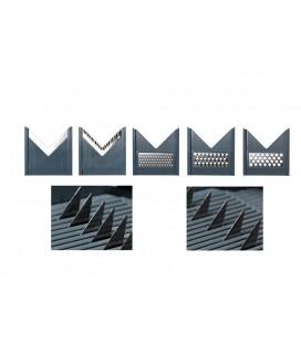 Mandoline gris Court « V » + 5 lames de Lacor