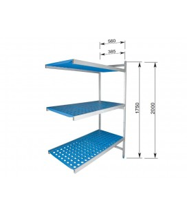 Shelving open 3 shelves of Lacor