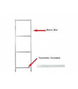 Transom bracket side modular shelving of Lacor