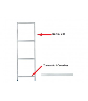 Transom bracket side modular shelving of Lacor