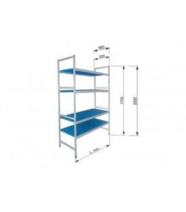 Simple shelving 5 shelves of Lacor