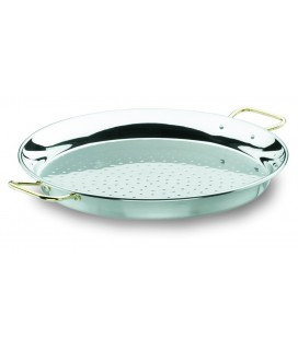 Stainless Valencian paella pan of Lacor
