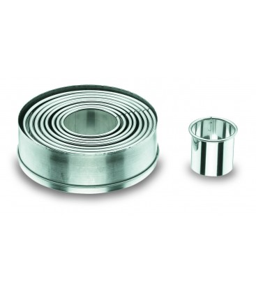 Box 9 smooth round pasta cutter, stainless of Lacor