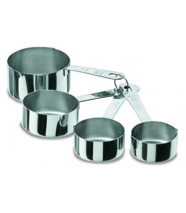 Set of 4 measures of Lacor 1810 stainless buckets