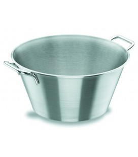 Pot conique avec poignées en acier inoxydable de Lacor 18/10