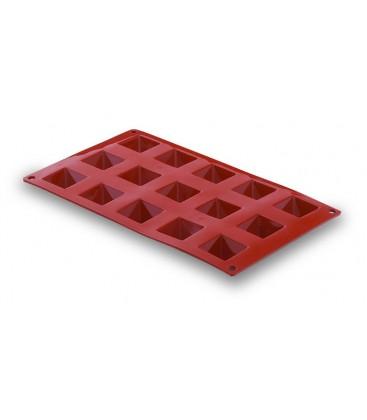 Molde Silicona Pirámide 15 Cavidades de Lacor