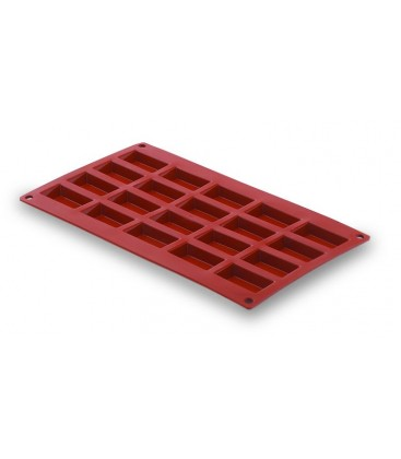 20 small rectangle silicone mould cavity of Lacor