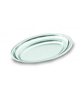 Fontaine ovale poli satiné en acier inoxydable 18/10 de Lacor