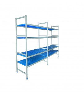 Double shelving 4 racks of Lacor